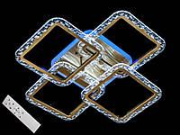 Потолочная светодиодная люстра в спальню с диммером цвет бронза 80W Diasha&QX2519/4BR LED 3color dimmer