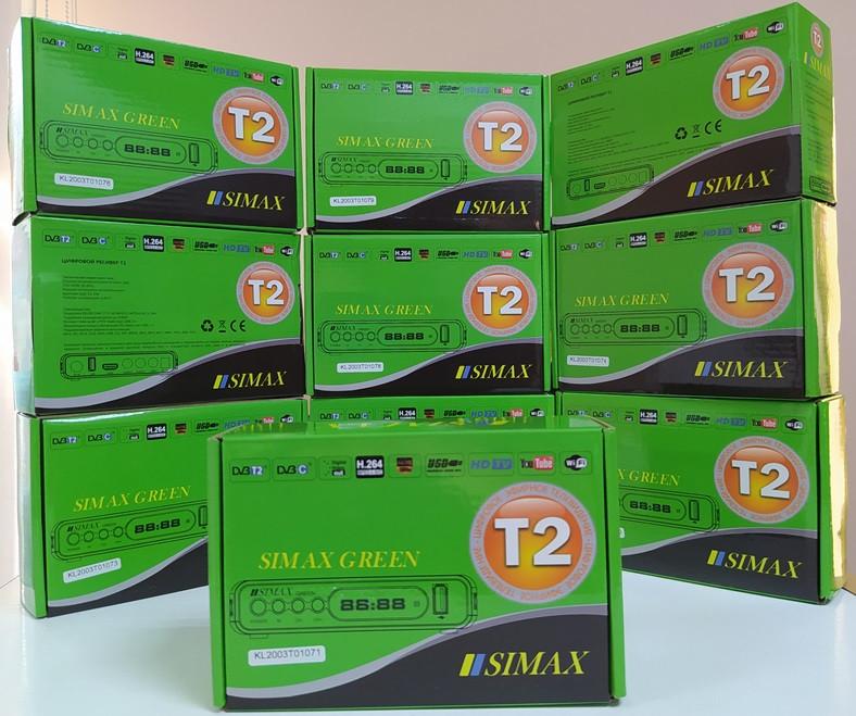 Цифровой эфирный DVB-T/T2/C приставка Т2 тюнер ресивер SIMAX GREEN HD декодер