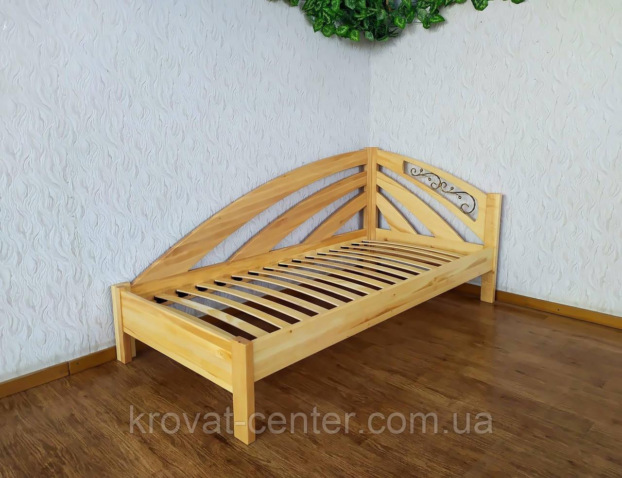 """Односпальне ліжко дерев'яна """"Веселка"""" (колір на вибір)"""
