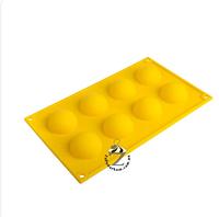 Полусфера силиконовая форма для шоколада на планшете диаметр 5 см из 8 шт