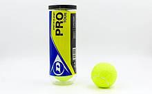 Мячи для большого тенниса DUNLOP PRO TOUR 3B 602200 (3 шт)