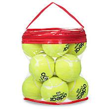 Мяч для большого тенниса ODEAR SILVER, резина, войлок, 12шт. (BT-1780)