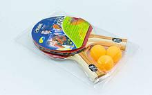 Набор для настольного тенниса STG FORCE, древесина, резина, 2 ракетки, 3 мяча (MT-6367)