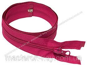 Молния спиральная разъемная №5 длина 60см цвет ярко розовый #649