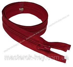 Спіральна блискавка роз'ємна №5 довжина 70см колір червоний #519