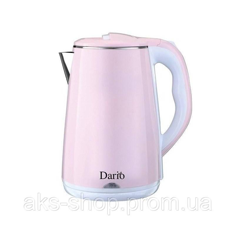 Электрочайник Dario DR2301 Rose мощность 2000 Вт объем 2,3 литра