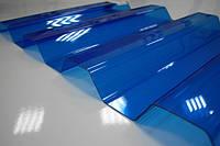 Гофрированный поликарбонат BORREX 1.05х2;3;4;6 метров Синий