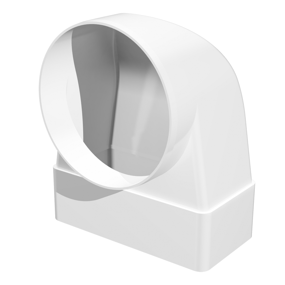 З'єднувач Ера 90° прямокутного повітроводу з круглим 55 х 110 х 100 мм (60-426)
