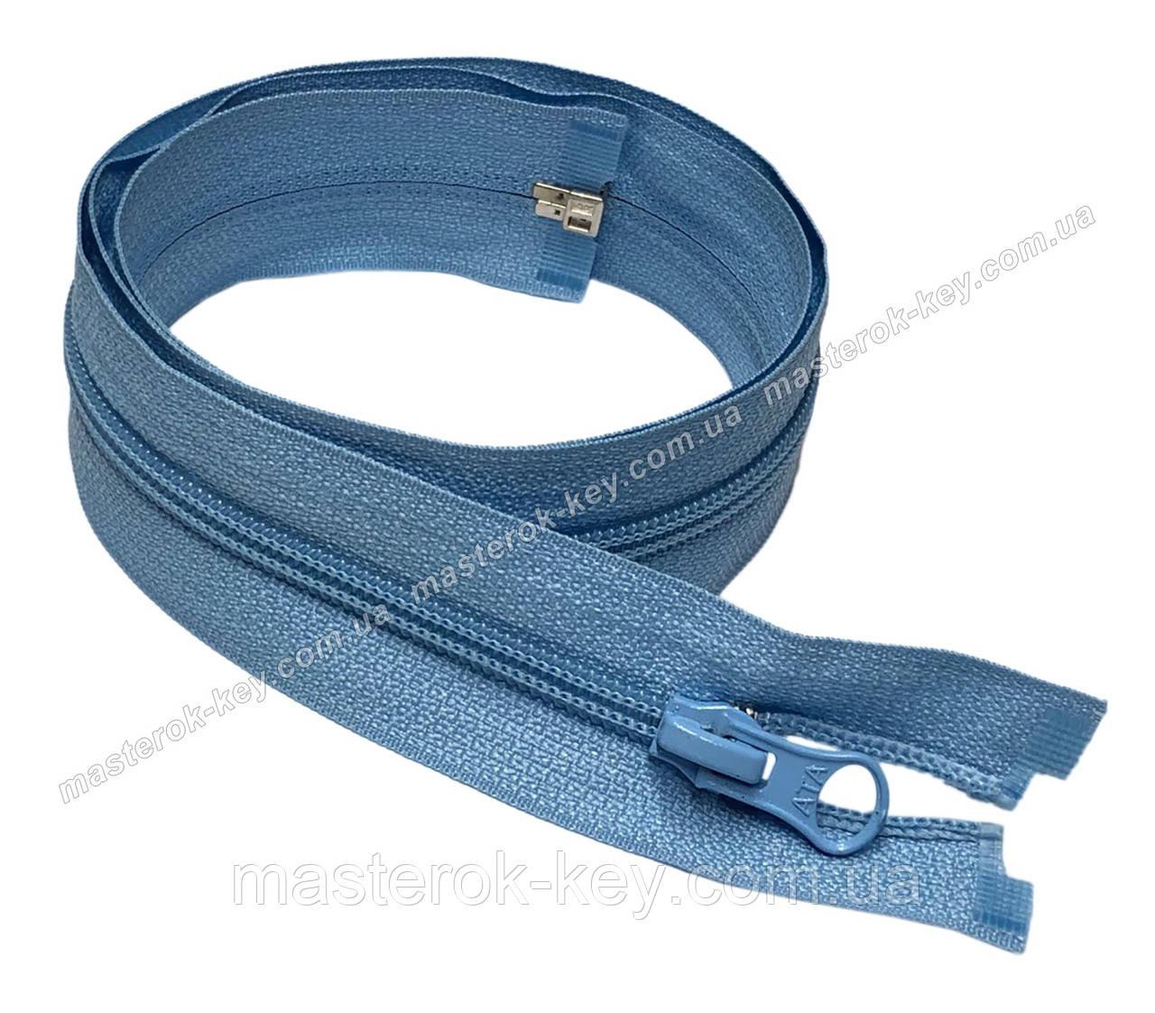 Молния спиральная разъемная №5 длина 80см цвет голубой #749