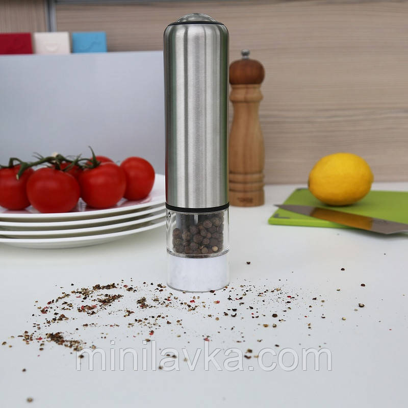 Млин для спецій (перцю і солі) електрична 2 в 1 Herisson EZ-0005
