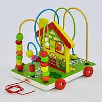 Деревянная каталка с пальчиковым лабиринтом Fun game 7368, фото 1