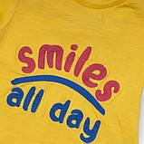 Детская футболка для девочек 1-5 лет, 74/128 см Minoti, 74-80 см, фото 2