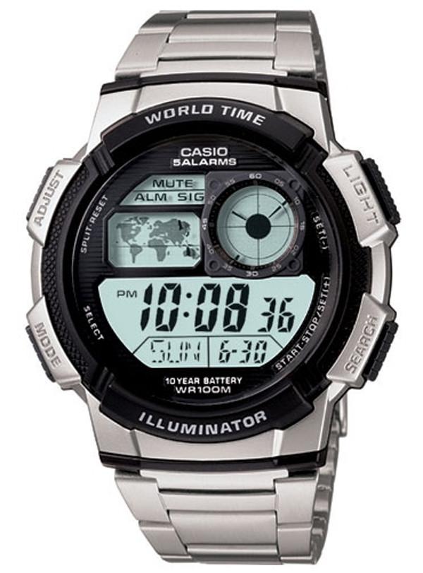 Мужские часы Casio AE-1000WD-1AVDF + ПОДАРОК: Держатель для телефонa L-301