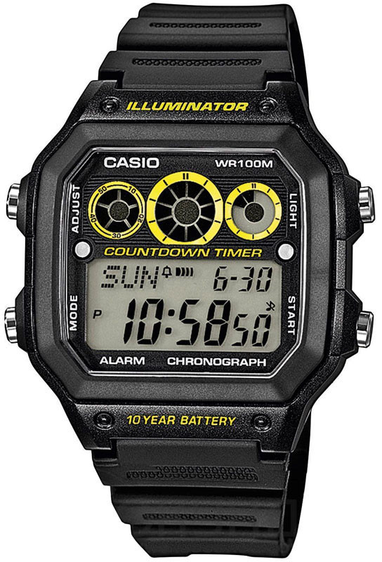 Мужские часы Casio AE-1300WH-1AVDF  + ПОДАРОК: Держатель для телефонa L-301
