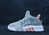 Женские кроссовки Adidas EQT в стиле Адидас Эквипмент СЕРЫЕ (Реплика ААА+), фото 2
