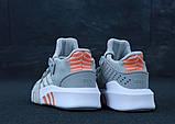 Женские кроссовки Adidas EQT в стиле Адидас Эквипмент СЕРЫЕ (Реплика ААА+), фото 3