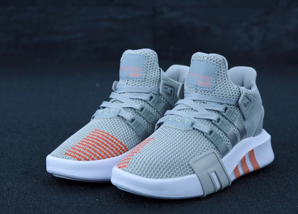 Женские кроссовки Adidas EQT в стиле Адидас Эквипмент СЕРЫЕ (Реплика ААА+)