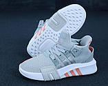 Женские кроссовки Adidas EQT в стиле Адидас Эквипмент СЕРЫЕ (Реплика ААА+), фото 4