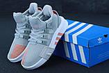 Женские кроссовки Adidas EQT в стиле Адидас Эквипмент СЕРЫЕ (Реплика ААА+), фото 6