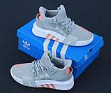 Женские кроссовки Adidas EQT в стиле Адидас Эквипмент СЕРЫЕ (Реплика ААА+), фото 5