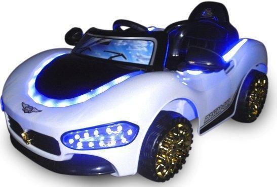 Детский электромобиль на аккумуляторе CABRIO MA EVA с пультом управления Белый (чудомобиль)