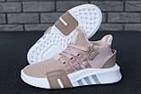 Женские кроссовки Adidas EQT в стиле Адидас Эквипмент РОЗОВЫЕ (Реплика ААА+), фото 2