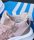Женские кроссовки Adidas EQT в стиле Адидас Эквипмент РОЗОВЫЕ (Реплика ААА+), фото 6
