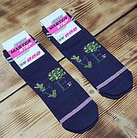 "Носки женские фиолетовые ""Love"", размер 25 / 37-39р."