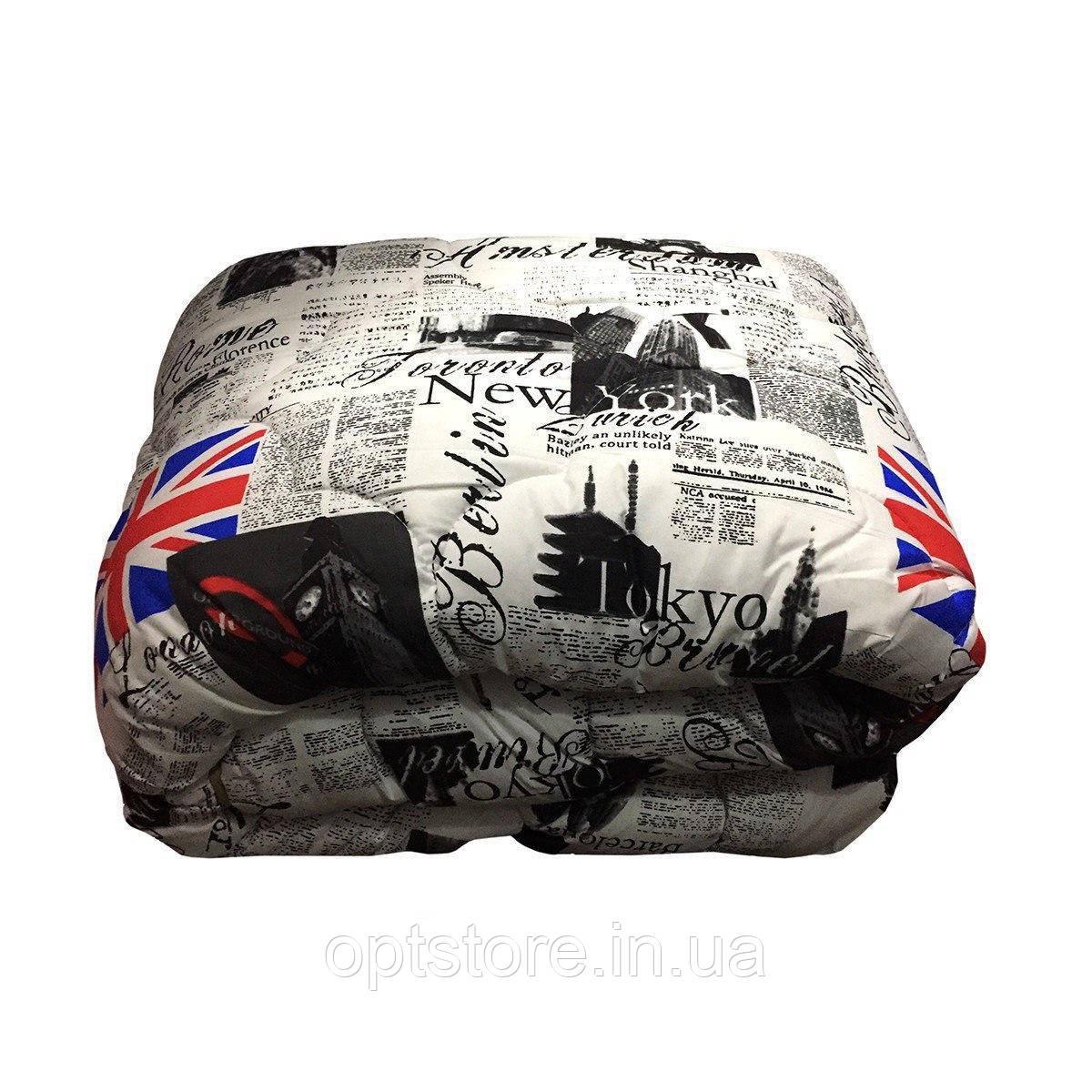 Одеяло евро 200/220 шерсть овечья натуральная, ткань поплин