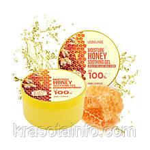 Увлажняющий гель с медом для лица и тела, Lebelage Moisture Honey 100% Soothing Gel, 300 мл