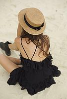 Шляпа женская Конотье Солома ( соломенная шляпка с ленточками )
