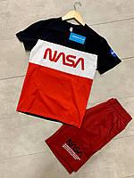 Мужской комплект футболка шорты nasa наса