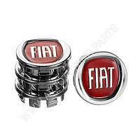 Заглушка колесного диска Fiat 49x43 серый ABS пластик (4шт.) (50013)