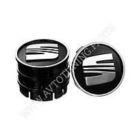 Заглушка колесного диска SEAT 60x55 черный ABS пластик (4шт.) (50031)