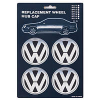 Заглушка колесного диска VW 76 черный ABS пластик (4шт.) (HBC 110)