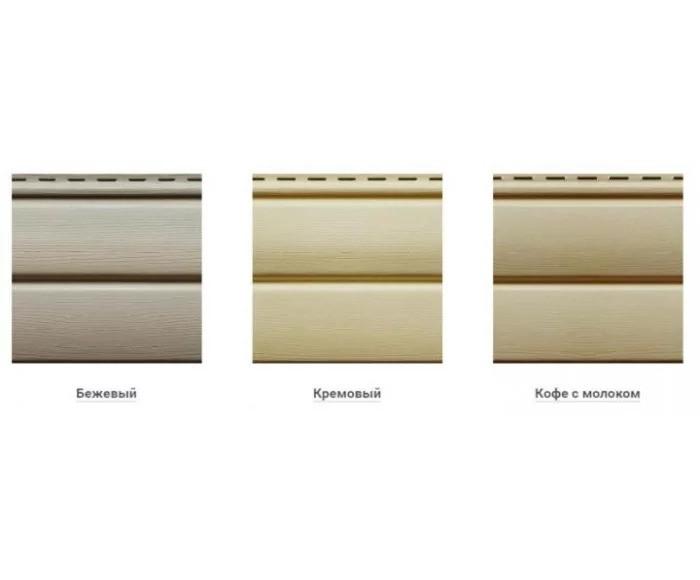 Сайдинг Ю-пласт виниловый Блок-Хаус панель 3,4х0,23. Блокхаус под сруб. Кофе с молоком - фото 5