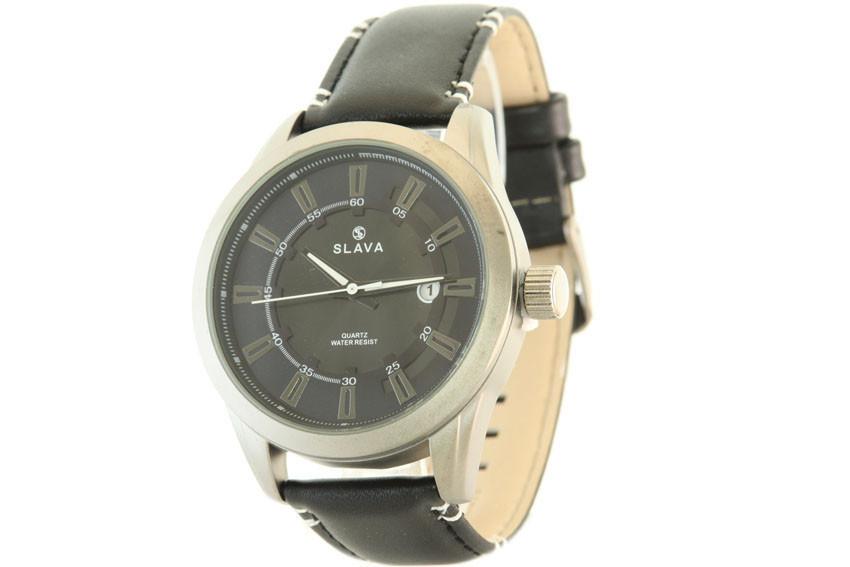 Мужские часы SLAVA 10124 + ПОДАРОК: Настенный Фонарик с регулятором BL-8772A