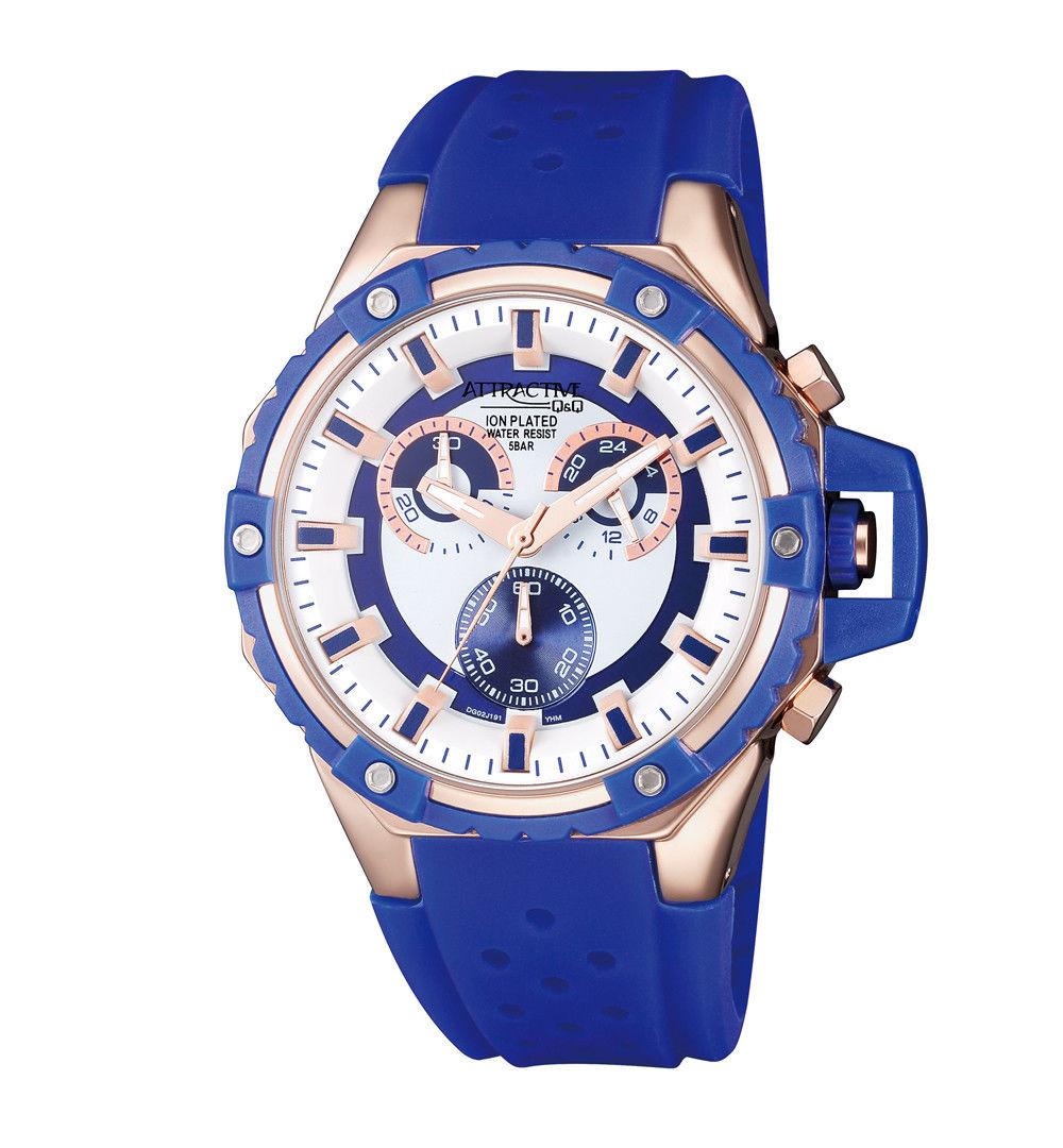Мужские часы Q&Q DG02J191Y + ПОДАРОК: Настенный Фонарик с регулятором BL-8772A