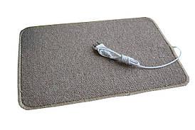 🔝 Электро-коврик с подогревом (коричневый, закругленные углы, 50 x 33 см) Трио, электрический   🎁%🚚