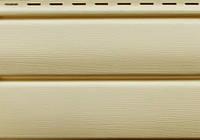 Сайдинг Ю-пласт виниловый Блок-Хаус панель 3,4х0,23.  Блокхаус под сруб. Кремовый