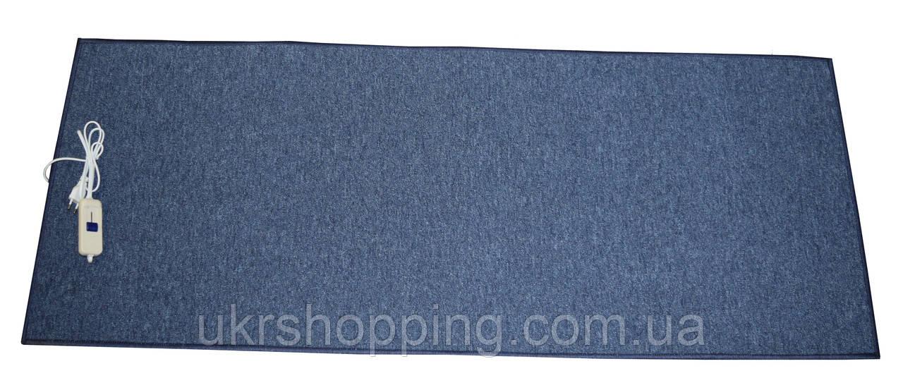 🔝 Электро-ковер с подогревом для ног, 150 x 60 см, (прямые углы) тёмно-синий, Трио, электрический   🎁%🚚