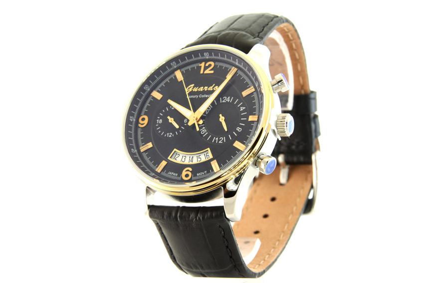 Мужские часы Guardo S01394А Сталь + ПОДАРОК: Настенный Фонарик с регулятором BL-8772A