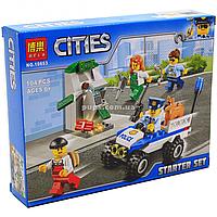 Конструктор Bela «Cities» - набор для начинающих Полиция, 104 детали (10653)