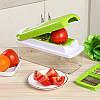 Ручная овощерезка Nicer Dicer Plus  + Электрическая точилка в ПОДАРОК! Овощерезка 8 в 1. Терка для кухни., фото 2