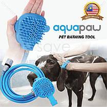 Перчатка-душ для купания домашних питомцев   Щетка для животных AQUAPAW, фото 2