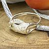 Серебряное кольцо Алина вставка белые фианиты вес 2.1 г размер 16, фото 3