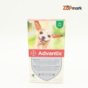 Адвантикс (Advantix)  капли от блох и клещей для собак До 4кг