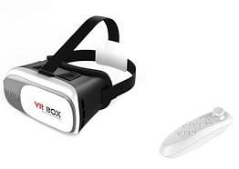 3D очки виртуальной реальности VR BOX 2.0 с пультом Черный с белым 005351, КОД: 1765861