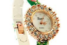Женские часы Geneva + ПОДАРОК: Настенный Фонарик с регулятором BL-8772A, фото 3