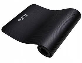 Коврик (мат) для йоги и фитнеса 4FIZJO NBR 1 см 4FJ0015 Black, фото 2
